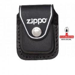 Funda en piel para encendedor Zippo, color negro