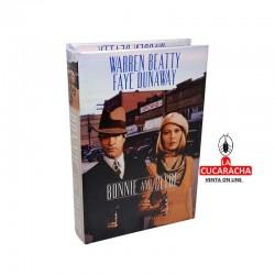 Libro-caja fuerte forma de libro con llave, modelo Bonnie & Clyde
