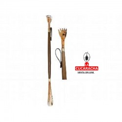 Calzador rascador mano, hecho en madera, color concha