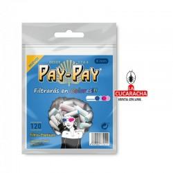 PAY PAY-Pack 40-Bolsa de 120 Filtros 6mm. Colores.