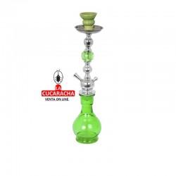 Shisha cristal de 1 salida, color verde 43 cm