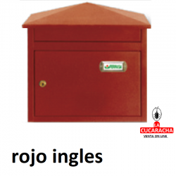 Buzon exterior Modelo Artic. Color rojo ingles