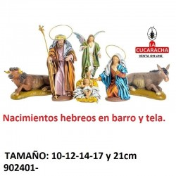 Nacimientos Estilo Hebreo barro y tela 10-12-14-17-21 cm