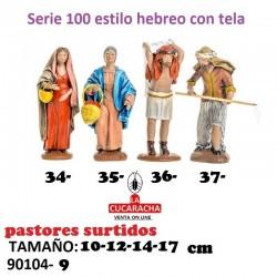 Pastores Surtidos Figuras estilo Hebreo con tela 10-12-14-17- cm. Unidad