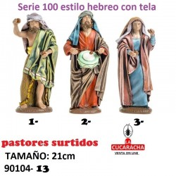 Pastores Surtidos Figuras estilo Hebreo con tela 21 cm UNO.