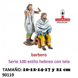 Figura Belen Estilo Hebreo con tela Grupo Barbero 10-12-14-17-21 cm.