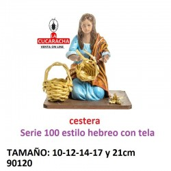 Figura Belen Pastora haciendo cestas 10-12-14-17-21 cm