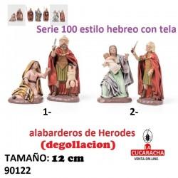 Figuras Belen Estilo Hebreo con tela MUERTE DE NIÑOS 12 cm.