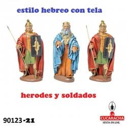 Figuras Belen Herodes y Soldados 21 cm