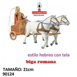Figuras Belen Estilo Hebreo con tela Biga Romana 21cm