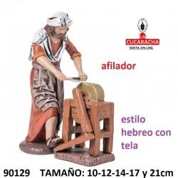 Figuras Belen Estilo Hebreo con tela Afilador 10-12-14-17 y 21cm