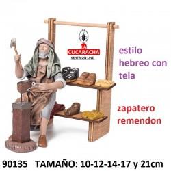 Figuras Belen Estilo Hebreo con tela Zapatero 10-12-14-17 y 21cm