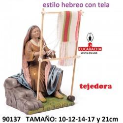 Figuras Belen Pastora Tejiendo 10-12-14-17 y 21cm