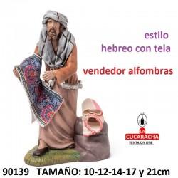 Figuras Belen Pastor vendiendo Alfombras 10-12-14-17 y 21cm