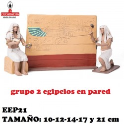 Figuras Belen 2 Egipcios en pared 10cm