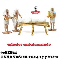 Figuras Belen Grupo Egipcios Embalsamando 10-12-14-17 y 21cm