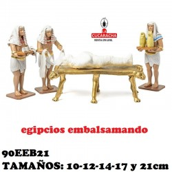 Figuras Belen Grupo Egipcios Embalsamando 10cm