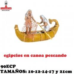 Figuras Belen Grupo Egipcios Canoa pescando 10-12-14-17 y 21cm