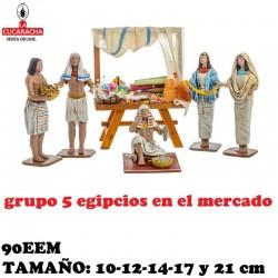 Figuras Belen Grupo 5 Egipcios en el mercado 10cm