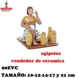 Figuras Belen Grupo Egipcios Vendiendo Ceramica 10-12-14-17 y 21 cm