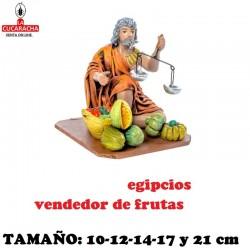 Figuras Belen Grupo Egipcios Vendiendo Fruta 10 cm