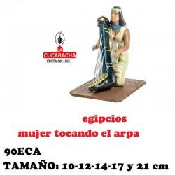 Figuras Belen Grupo Egipcios Mujer tocando el Arpa 10 cm