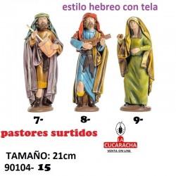Pastores Surtidos Figuras estilo Hebreo con tela 21 cm TRES