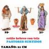 Pastores Surtidos Figuras estilo Hebreo con tela 21 cm CINCO