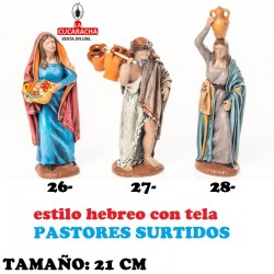 Pastores Surtidos Figuras estilo Hebreo con tela 21 cm SEIS