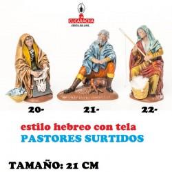 Pastores Surtidos Figuras estilo Hebreo con tela 21 cm OCHO