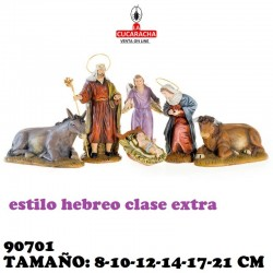 Nacimiento Estilo Hebreo Clase Extra 8-10-12-14-17 y 21cm