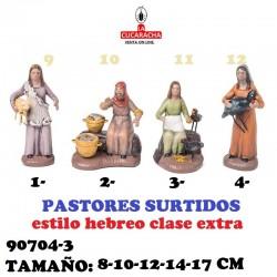 Figuras Belen Estilo Hebreo clase extra-3-PASTORES SURTIDOS 8-10-12-14-17 CM
