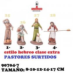 Figuras Belen Estilo Hebreo clase extra-7-PASTORES SURTIDOS 8-10-12-14-17 CM