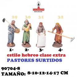 Figuras Belen Estilo Hebreo clase extra-8-PASTORES SURTIDOS 8-10-12-14-17 CM