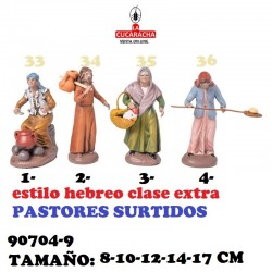 Figuras Belen Estilo Hebreo clase extra-9-PASTORES SURTIDOS 8-10-12-14-17 CM