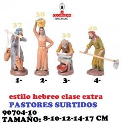 Figuras Belen Estilo Hebreo clase extra-10-PASTORES SURTIDOS 8-10-12-14-17 CM