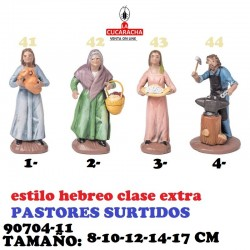 Figuras Belen Estilo Hebreo clase extra-11-PASTORES SURTIDOS 8-10-12-14-17 CM