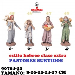 Figuras Belen Estilo Hebreo clase extra-12-PASTORES SURTIDOS 8-10-12-14-17 CM