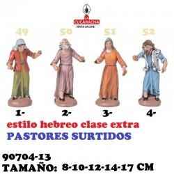 Figuras Belen Estilo Hebreo clase extra-13-PASTORES SURTIDOS 8-10-12-14-17 CM