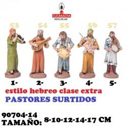 Figuras Belen Estilo Hebreo clase extra-14-PASTORES SURTIDOS 8-10-12-14-17 CM