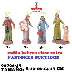 Figuras Belen Estilo Hebreo clase extra-PASTORES SURTIDOS 8-10-12-14-17 CM