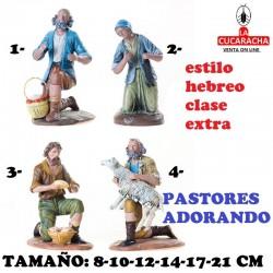 Figuras Belen Estilo Hebreo clase extra Pastores Adorando 8-10-12-14-17-21cm