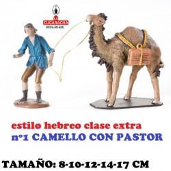 Figuras Belen Estilo Hebreo clase extra-2- Grupos Surtidos Camello con pastor 8-10-12-14-17cm