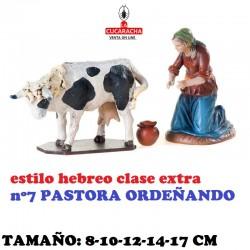 Figuras Belen Estilo Hebreo clase extra-4- Grupos Surtidos Pastora ordeñando 8-10-12-14-17cm