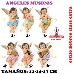 Figuras Belen Estilo Hebreo clase extra-2- ANGELES MUSICOS 12-14-17cm