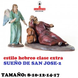 Figuras Belen Estilo Hebreo clase extra-SUEÑO DE SAN JOSE 8-10-12-14-17 CM