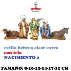 Nacimientos Estilo Hebreo Clase Extra CON TELA 8-10-12-14-17 y 21cm