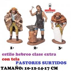 Figuras Belen Estilo Hebreo clase extra con tela-1-PASTORES SURTIDOS-10-12-14-17cm