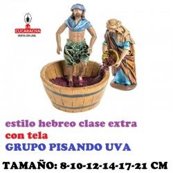 Figuras Belen Estilo Hebreo clase extra con tela PISANDO UVA 8-10-12-14-17-21 cm