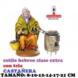 Figuras Belen Estilo Hebreo clase extra con tela CASTAÑERAS 8-10-12-14-17-21 cm